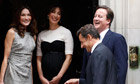 David and Samantha Cameron with Nicolas Sarkozy and wife Carla Bruni