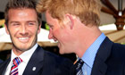 David Beckham and Prince Harry