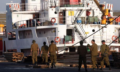 Gaza relief ship in Ashdod