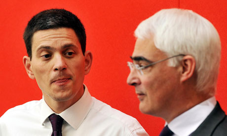 David Miliband, left, and Alistair Darling