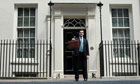 George Osborne holds the budget box as he leaves 11 Downing Street for Parliament