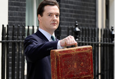 George Osborne budget box