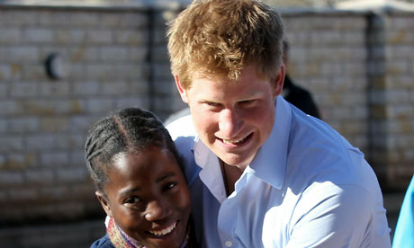 prince harry pics. Prince Harry in Lesotho