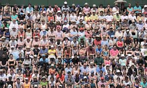 Spectators on Court 18 at this week's Wimbledon.