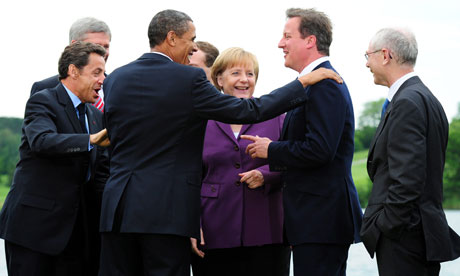 David Cameron and political leaders at G8 summit