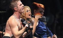 Kylie and The Scissor Sisters at Glastonbury
