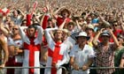 England fans at Glastonbury react to their team's World Cup defeat by Germany