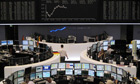 Traders at work on the Frankfurt stock exchange