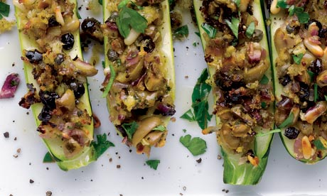 Courgettes with orange, pine nuts and herbs
