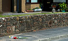 Flowers at one of the scenes of the shootings in Seascale, Cumbria