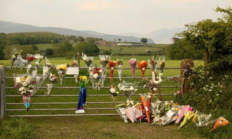 Floral tributes Cumbria Derrick Bird shootings