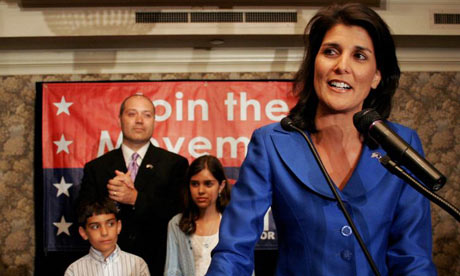 Nikki Haley addresses her supporters