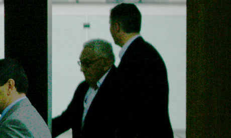 Dr Henry Kissinger at Bilderberg 2010.