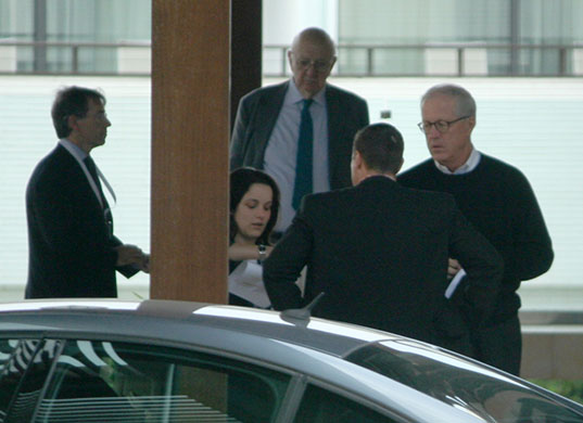 Bilderberg power gallery: Paul Volcker, centre and James A Johnson, right