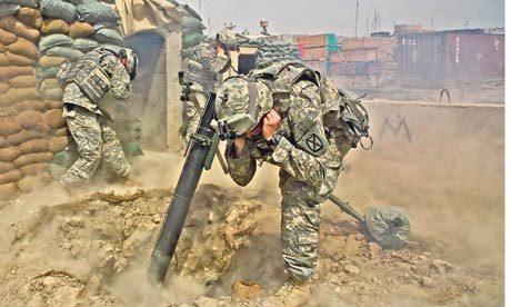 US troops return mortar fire in Iraq's triangle of death
