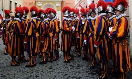 Swiss guards in Rome