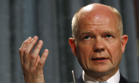 William Hague speaking in London on 1 July 2010.