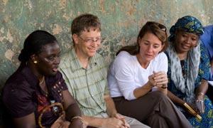 Bill and Melissa Gates in Nigeria in 2006