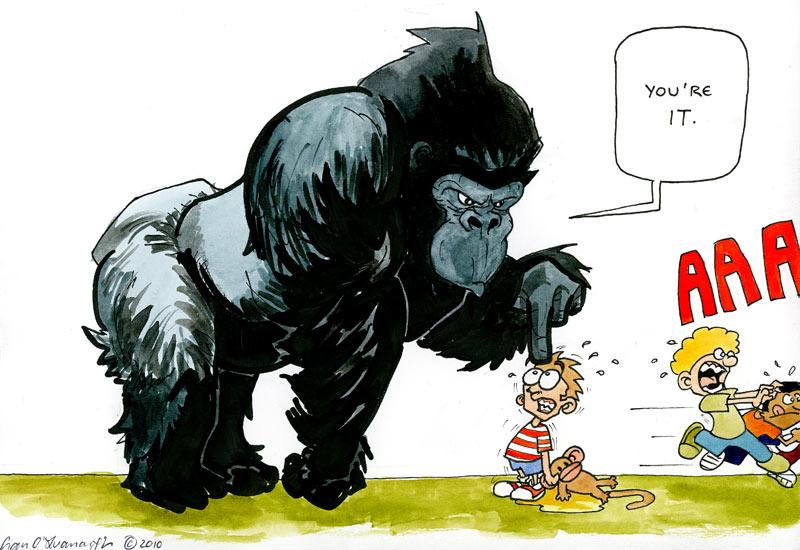 Gorilla Fighting Other Animals Cartoon-gorillas-play-tag-003.jpg
