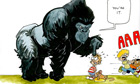 Cartoon: Gorillas play tag