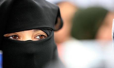 Young Muslim Woman Wearing Burka