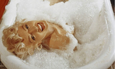 Marilyn Monroe takes a bath in The Seven YearItch