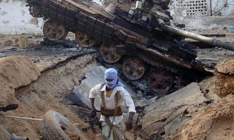 A fighter from al-Shabaab, Mogadishu