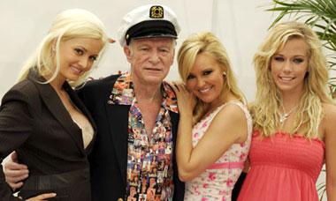 Hugh Hefner and his Playboy bunnies