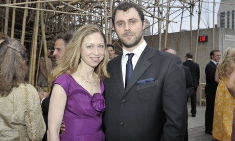 Chelsea Clinton and her husband-to-be Marc Mezvinsky.