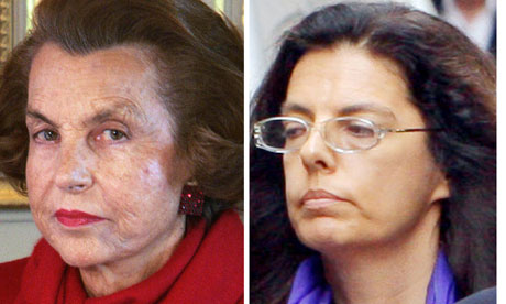 Lilian Bettencourt and her daughter