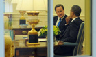 David Cameron and Barack Obama in the Oval Office