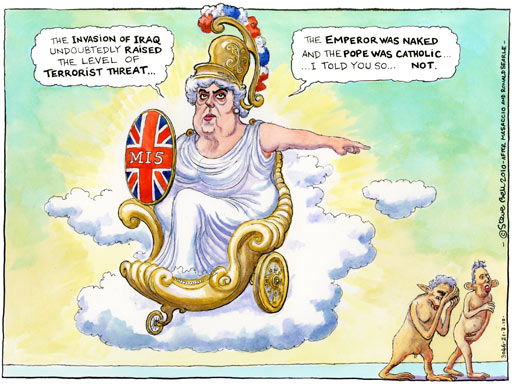 Steve Bell on the former head of MI5's devastating critique of the invasion of Iraq