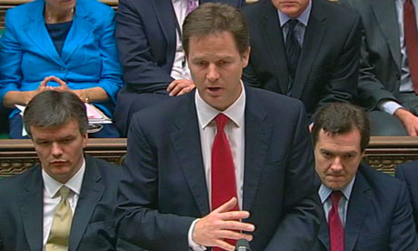 Nick Clegg in House of Commons