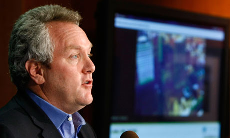 Andrew Breitbart holds a news conference on Acorn Revealed