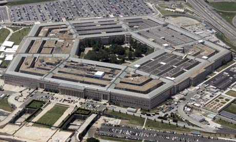 An aerial view of the Pentagon Building in Washington DC