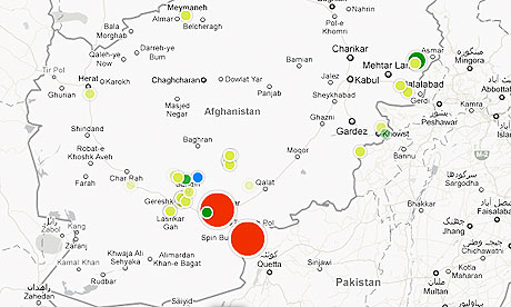Afghanistan war logs: IED interactive
