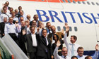Cameron party flies out of Ankara to Bangalore