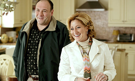 James Gandolfini and Edie Falco in The Sopranos