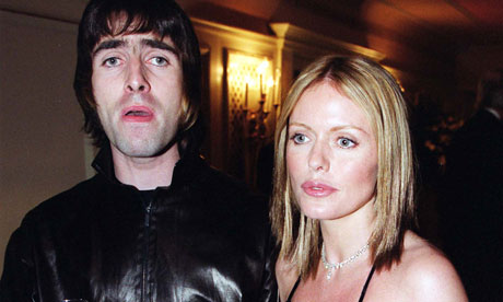 Liam Gallagher and Patsy Kensit
