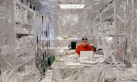 cool office, office furniture, silver office, office pranks