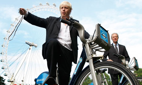Boris Johnson cycle hire