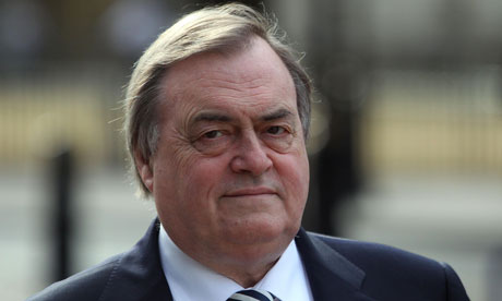 Lord Prescott arrives at the QE2 conference centre in London to give evidence to the Iraq Inquiry