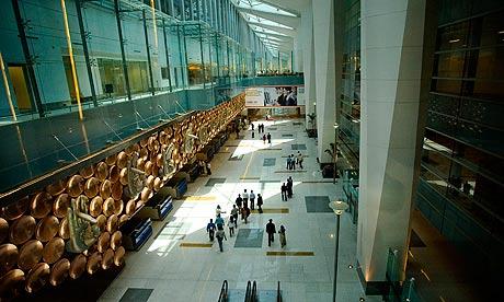 Terminal 3 at Indira Gandhi international airport in Delhi, India.