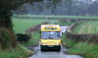 Bus in rural Staffordshire