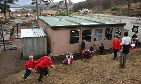 Schoolchildren playing