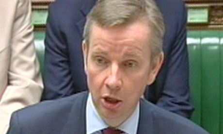 Michael Gove announcing education projects worth £1bn are to be axed.