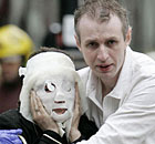 Davinia Turrell (now Davinia Douglass) is helped by Paul Dadge after the 7 July 2005 bombings