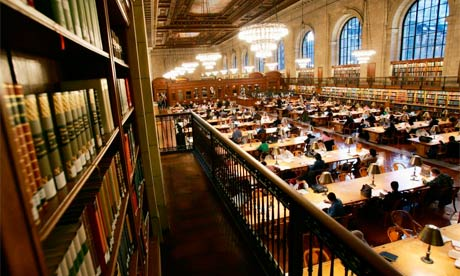 Main reading room of New York Public Library