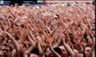 Crowd in Hyde Park London