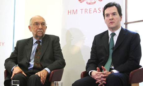 George Osborne and Sir Alan Budd of the OBR